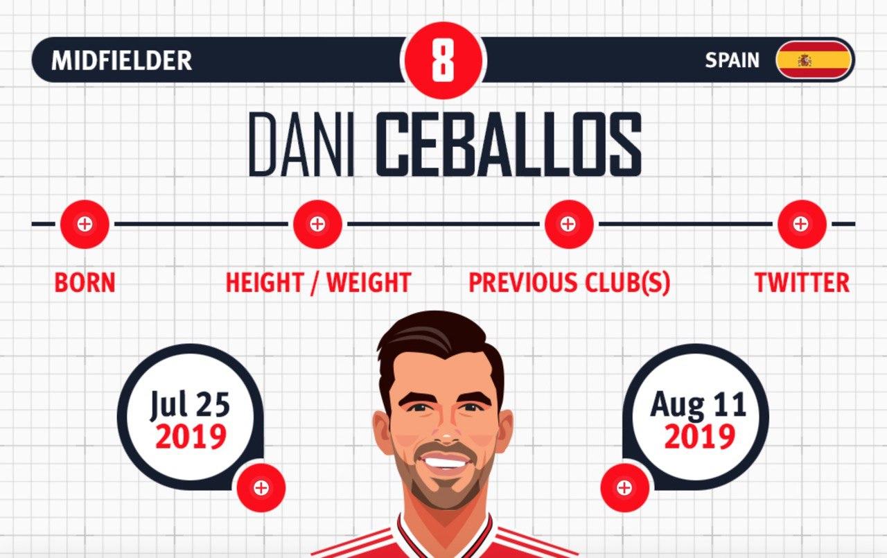 Dani Ceballos infographics card